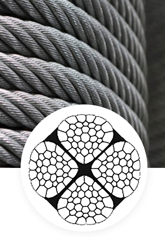 Steel wire rope 4x36 Poweract 4