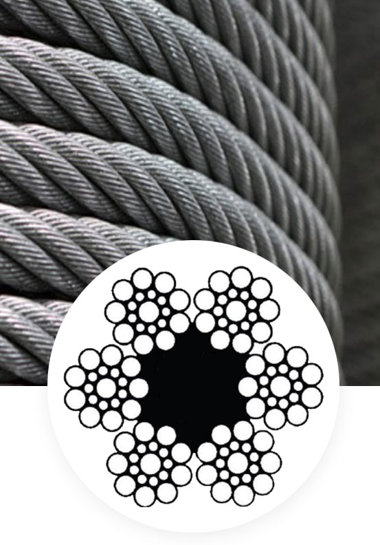 General purpose wire rope 6×19 WS+FC